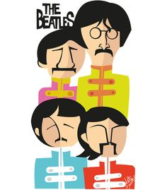 Beatles Art, The Beatles, John Lenon, Band On The Run, Guitar Posters, Funny Paintings, Avengers Art, Funny Caricatures, Rock And Roll Bands