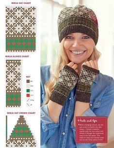 Baby Afghan Crochet, Crochet Mittens, Mittens Pattern, Crochet Gloves, Knit Crochet, Cable Knitting, Fair Isle Knitting, Knitting Charts, Knitting Stitches