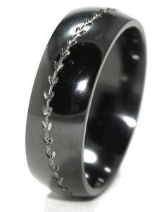 Baseball Wedding Band-Black yes I totally would wear it!!!!