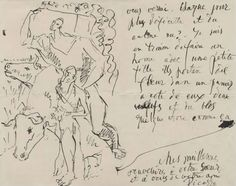 Check out this note from Pablo Picasso to Gertrude Stein.