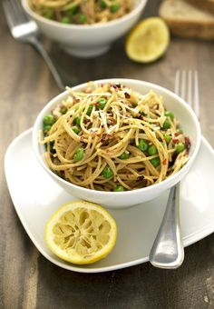 20. Spaghetti Pea Carbonara for One #healthy #recipes http://greatist.com/health/healthy-single-serving-meals
