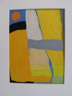 Untitled from the 'Landscape' series - Helen Banzhaf Abstract Embroidery, Embroidery Art, Tapestry Weaving, Wall Tapestry, Free Machine Embroidery, Panel Art, Textile Artists, Fabric Art, Fiber Art