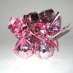 Guess what's in these pretty in pink foil wrappers?!! All Natural Pink Bath Bombs with Essential Oils & Absolutes!! http://www.marjsnaturals.com/