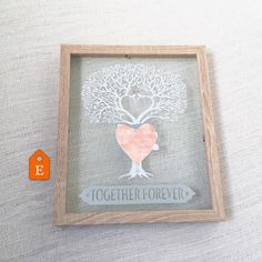 A 'love tree' with the names covered as this one is for an October Wedding - perfect for that Autumn/Fall themed wedding