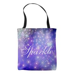 Sparkle All-Over-Print Tote Bag
