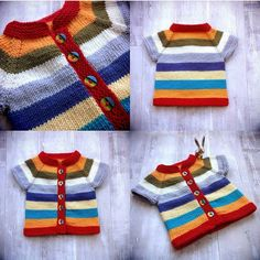 Repost from @scullywully. I love this amazing version of the Fuss Free Baby cardigan. So cute. I do love bright colours on babies and this is adorable. This is one of my free patterns on #ravelry and so far has raised over 100 for the charity Bliss. #louisetilbrookdesigns #babyknits #knitting #knittersofinstagram #knittersofIG #instaknit #instarav #knittersoftheworld