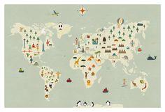 World map big print by blancucha on Etsy, $60.00