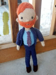 Crochet Conan! I want to make this and put strings from his hands to his pants and make him do the Conan dance!! :O