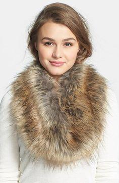 faux fur infinity scarf |