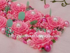 p Crystal Embroidery, Tambour Embroidery, Silk Ribbon Embroidery, Hand Embroidery, Embroidery On Clothes, Types Of Embroidery, Embroidery Designs, Beaded Flowers, Embroidered Flowers