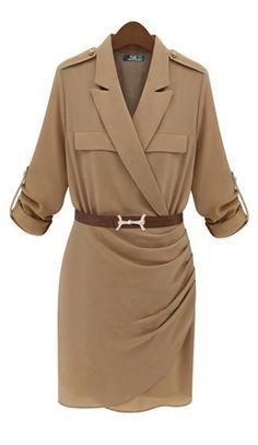 Belted shirt dress #UNIQUE_WOMENS_FASHION http://stores.ebay.com/VibeUrbanClothing