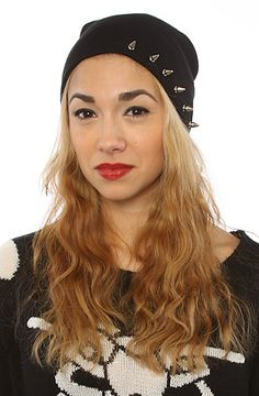this would be very makeable! Harlett The Spiked Beanie in Black : Karmaloop.com - Global Concrete Culture