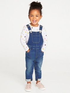 b04520eed0b 24 7 Denim Overalls for Toddler Girls Toddler Girl Outfits