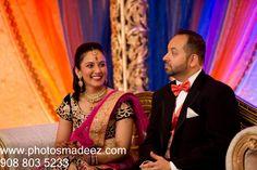 Wedding Reception photo for Indian Wedding at Double Tree, Somerset, Nj. Best Wedding Photographer PhotosMadeEz . Award Winning Photographer Mou Mukherjee . Gujarati Bride at Hindu Wedding.