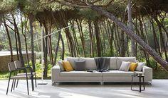 Luxury outdoor living.  Manutti's Zendo sofa - all weather designs.  #luxuryoutdoorfurniture #Manutti  www.gomodern.co.uk