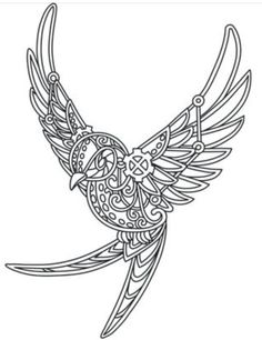 Bring A Bit Of Steampunks Fearless Spirit To Everyday Clothing And Decor With This Swallow Design