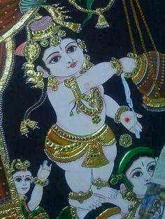 Krishna Lila, Bal Krishna, Krishna Art, Shree Krishna, Krishna Mantra, Iskcon Krishna, Krishna Images, Radhe Krishna, Mysore Painting