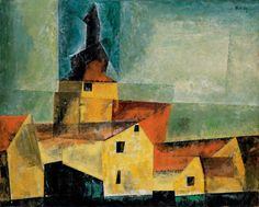 Lyonel Feininger, Gelbe Dorfkirche III 193780 x 100,3cm Oil on canvas Collection Würth, Künzelsau