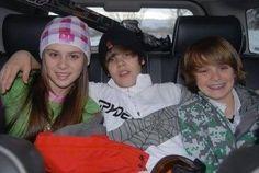 Justin Bieber, Christian Beadles and Caitlin Beadles...
