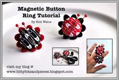 Magnetic Button Ring Tutorial