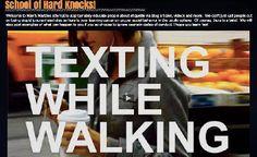 Texting while walking tutorial