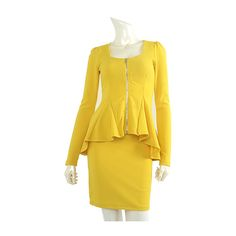 Today's Hot Pick :Peplum Top and Skirt Set http://fashionstylep.com/P0000DNQ/pushpush7023/out Easily pull-off a respectable and highly voguish look with this top and skirt set. This ensemble includes a square neck top with zippered front closures, long sleeves, and peplum hemlines