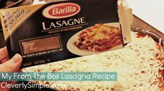 Easy Homemade Lasagna Recipe (With NO Boil Noodles!)