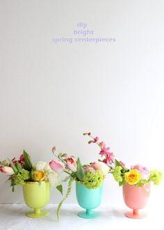 Bright Spring Goblet Arrangements #diy #craft #homedecor #handmade #craft #decoration