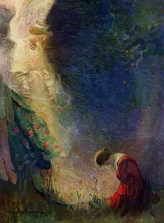 Joan of Arc -   Frank Schoonover - he paints like Redon?