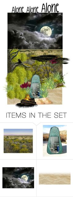 """""""Alone Alone Alone"""" by rosalindmarshall ❤ liked on Polyvore featuring art"""