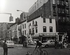 1960s NYC west greenwich village BLEECKER and CHRISTOPHER Street New York City Vintage Photo by Christian Montone, via Flickr