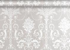 gray and white wallpaper Josette White/Dove Grey Damask Wallpaper