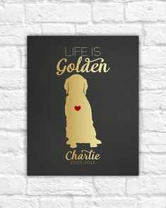Golden Retriever Dog Gift Art Print Custom by WanderingFables Dog Lover Gifts, Dog Gifts, Dog Lovers, Golden Retriever Gifts, Golden Retrievers, Thing 1, Retriever Puppy, Dog Accessories, Dog Supplies