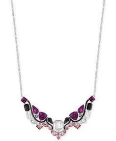 Swarovski Palladium-Plated Epoxy and Crystal Stone Frontal Necklace    macys.com 89be91979a