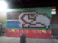 Seahawks Pepsi display.  Go Hawks!