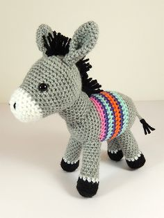 Dante the donkey and Carlos the cactus amigurumi crochet pattern by Janine Holmes at Moji-Moji Design