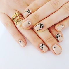 simple geometric nails nail art