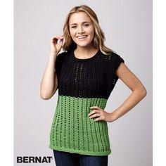 Fresh Mesh Top    Knit   Free Pattern   Yarnspirations   Summer Style
