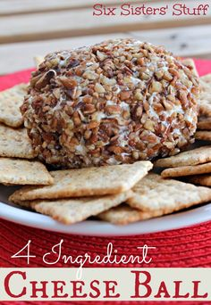 4 Ingredient Cheese Ball from SixSistersStuff.com | Six Sisters' Stuff