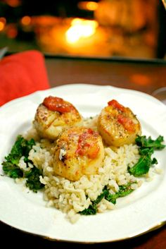 So easy but looks restaurant quality! Seared Scallops with Blood Orange Glaze - Low Calorie Low Fat Healthy