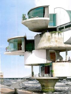 70 Stunning Brutalist Architecture Design That You Must Know - DecOMG Unusual Buildings, Interesting Buildings, Amazing Buildings, Architecture Design, Futuristic Architecture, Beautiful Architecture, Movement Architecture, Futuristic Houses, Futuristic Bedroom