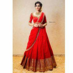Half Saree Lehenga, Lehenga Saree Design, Lehnga Dress, Lehenga Designs, Lehenga Gown, Lehenga Blouse, Bridal Lehenga, Indian Gowns Dresses, Indian Fashion Dresses