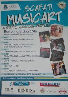 """RASSEGNA ESTIVA COMUNE DI SCAFATI, UN CONNUBIO TRA MUSICA E ARTE: """"SCAFATI MUSIC…"""