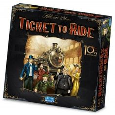 Ticket to Ride is a great game! 10th Anniversary edition.