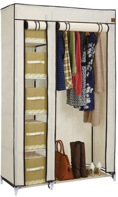 VonHaus Double Canvas Effect #Wardrobe