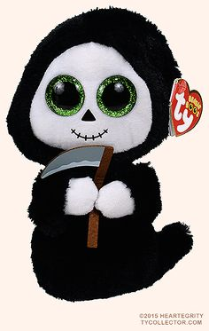 Ty Beanie Boo - Grimm the Ghost Halloween Beanie Boos, Beanie Boo Party, Kids Toy Store, New Kids Toys, Grimm, Peluche Lion, Ty Beanie Boos Collection, Rare Beanie Babies, Ty Stuffed Animals
