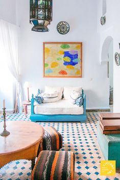 It's easy to go with a monochromatic color scheme in your interiors but consider implementing a complementary pair like. Office Interior Design, Office Interiors, Interior Decorating, Umbrella Painting, Monochromatic Color Scheme, Luxury Flooring, Contemporary Paintings, Color Schemes, Gallery Wall