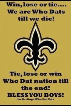 Who Dat! New Orleans Saints!