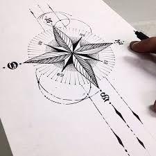 Resultado de imagem para tatuagens rosa dos ventos femininas