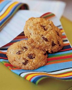 Passover Dessert Recipes | Martha Stewart Living - Made with kosher ingredients (matzo meal, matzo farfel, and nondairy chocolate chips), these cookies are sure to please.